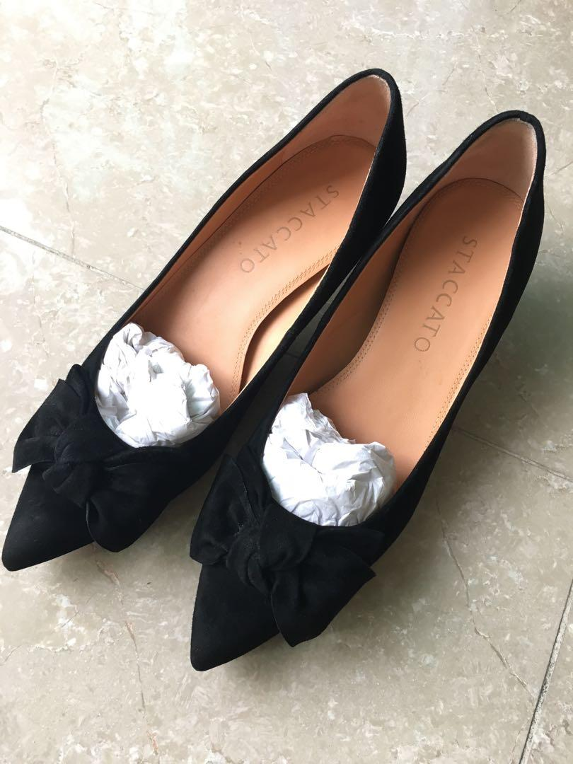 Staccato black high heels