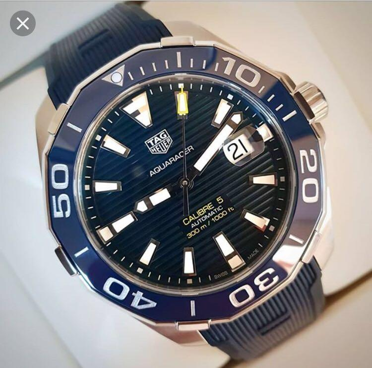 TAG Heuer Aquaracer Automatic Blue Dial Men's Watch WAY201B.FT6150