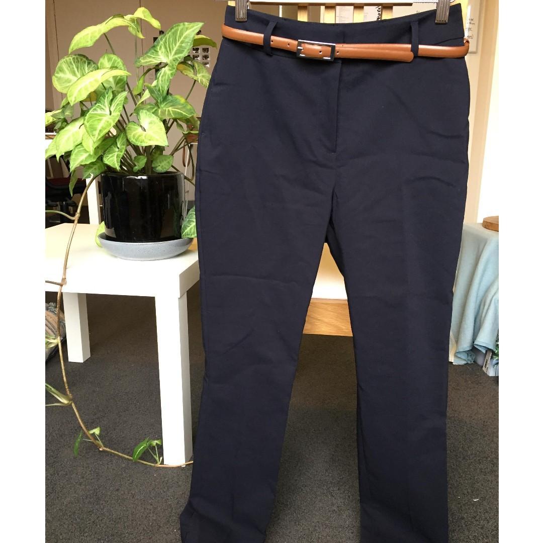 Tokito Petites Women's Size 8 'Chloe Belted Smart Pant', Navy