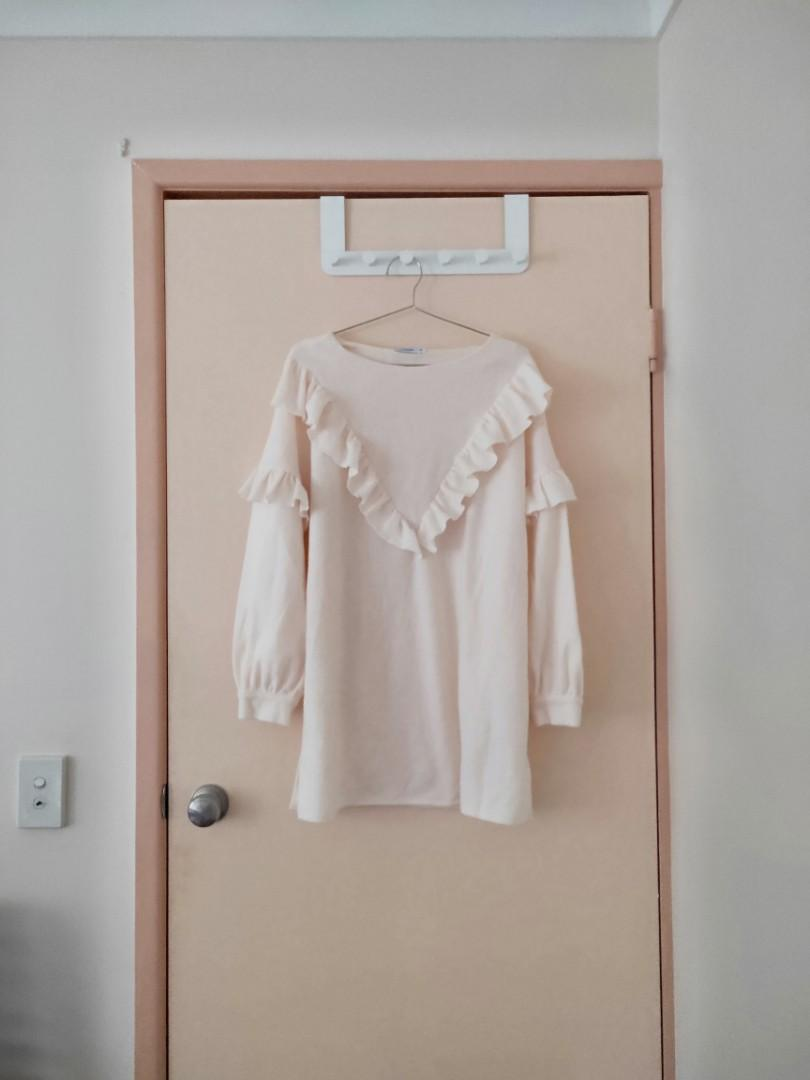 Valley girl sweater knit jumper creamy colour/light champagne