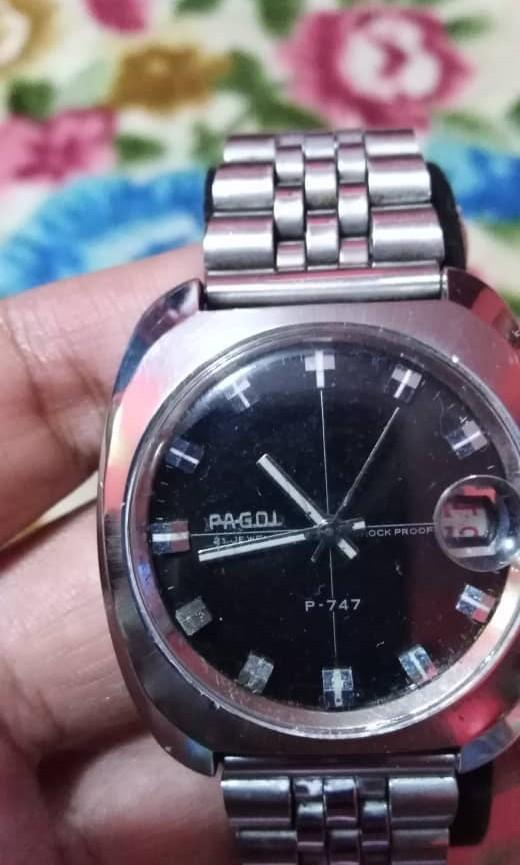 vintage rare Pagol Swiss Winding 747 with warranty