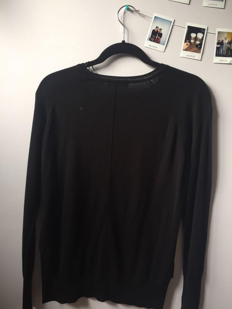 zara black knit long sleeve