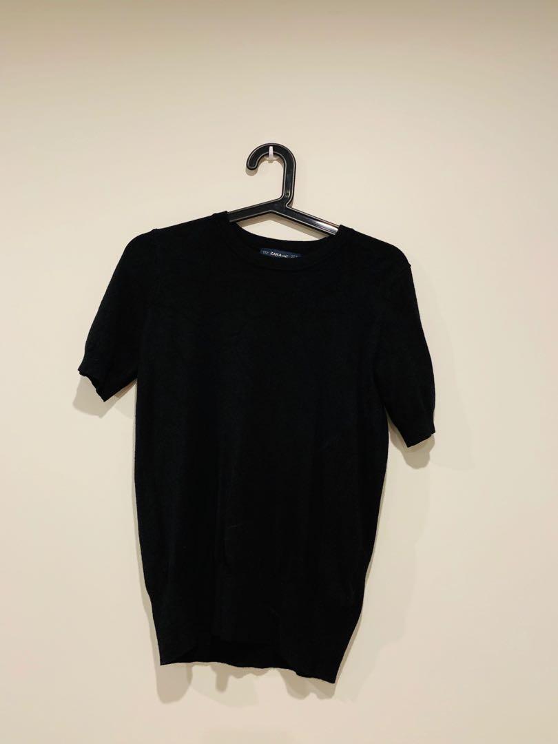 Zara black knit wear