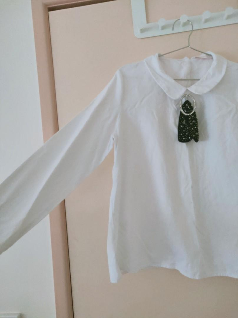 ZARA white top with special feature