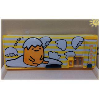 蛋黃哥立體三開筆盒  雙面筆盒 鉛筆盒 ㊣