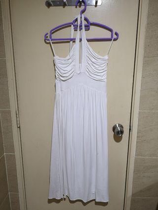 White Halterneck Dress #apr75