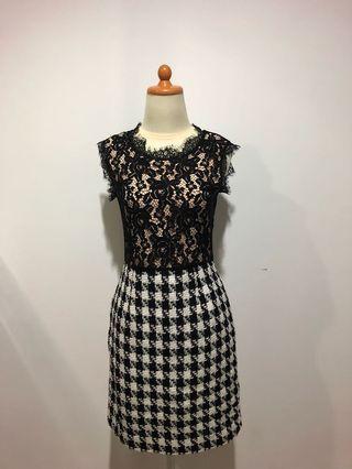 Valentino Checkered Dress Premium Quality