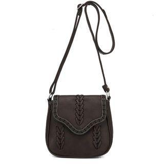 Vintage crossbody bag (dark brown)