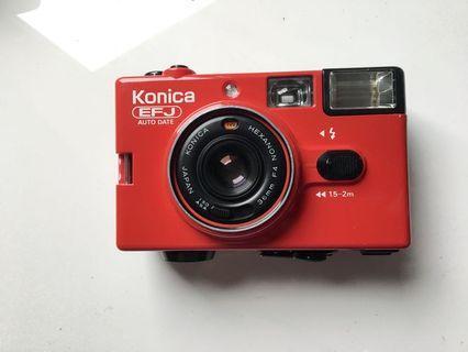 稀有色]konica EFJ Autodate 經典小紅底片機 定焦底片相機