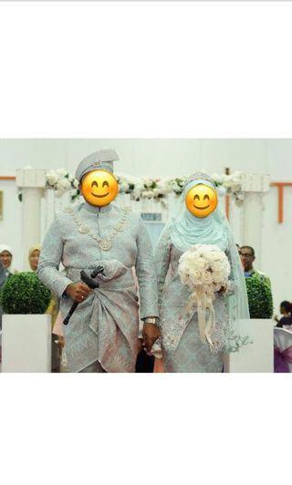 Ezuan ismail songket pengantin satu set (bridal wear)