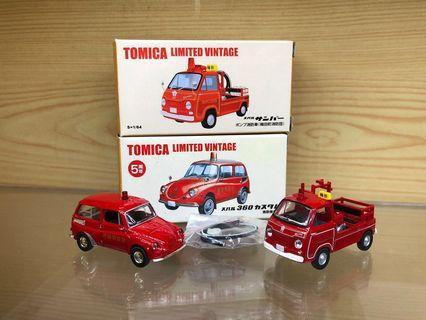 Tomica Limited Vintage Neo Tomytec 1/64 Subaru Sambar Truck, 360 Custom 消防車