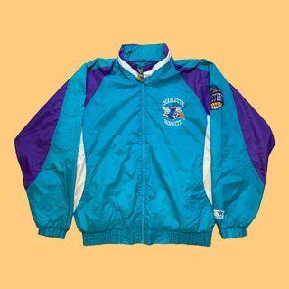 JCI:Vintage Starter NBA 夏洛特 黃蜂隊 立領風衣夾克外套 / 古著 / 90s / 嘻哈