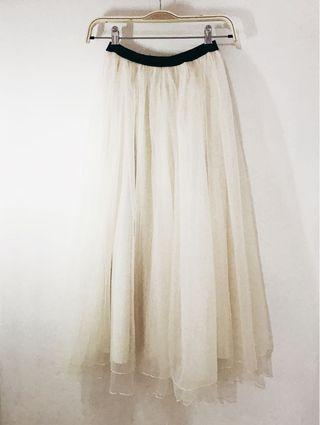 轉賣二手 pazzo高質感細網紗長紗裙 S號 #半價衣服拍賣會