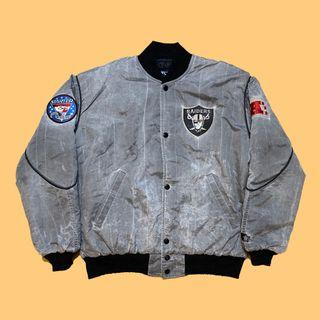 JCI:Vintage Starter NFL 奧克蘭 突擊者 水洗風衣面料飛行外套 90s Raiders MA-1