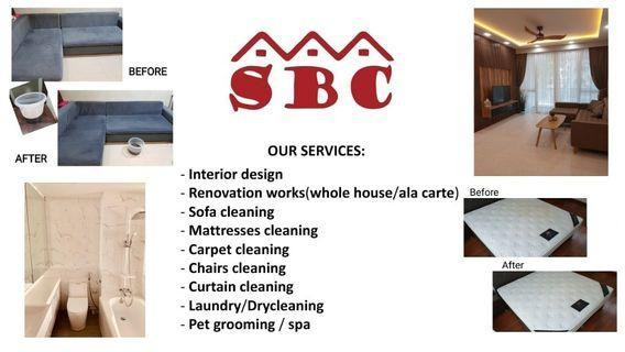 Furniture cleaning services, renovation, interior design