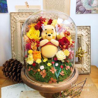 Qposket 維尼熊 保鮮花瓶 Winnie the Pooh figure iPhone X iPad Elsa 生日 畢業 週年禮物