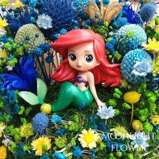 Qposket 美人魚 人魚 Ariel 保鮮花 畢業禮物 生日 週年 紀念日 結婚禮物 女友 美女與野獸 Disney iPhone iPad LEGO toy