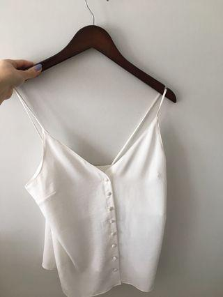Topshop Button-Up Tank Size 2