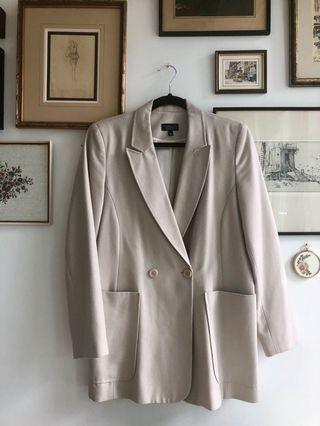 Topshop oversized light blush blazer - size US 8