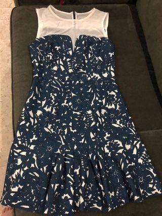 Mgp blue floral dress