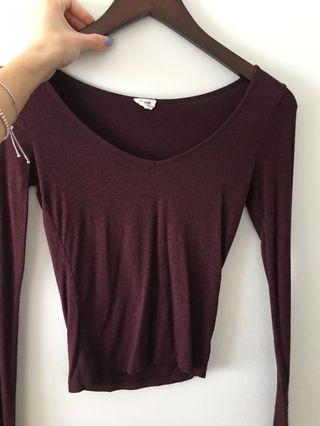 Long Sleeve Top Size XS