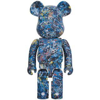 Bearbrick 1000 - Jackson Pollock (Fabric Version)