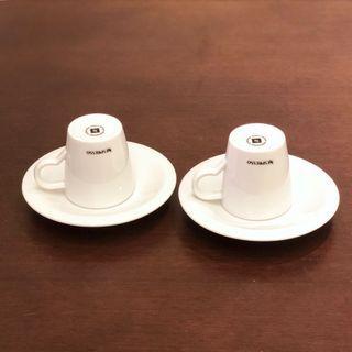 ☕️ Nespresso 濃縮咖啡 白色陶瓷杯碟套裝 (2套) Espresso Coffee Cups & Saucers (2 Sets) 咖啡杯碟