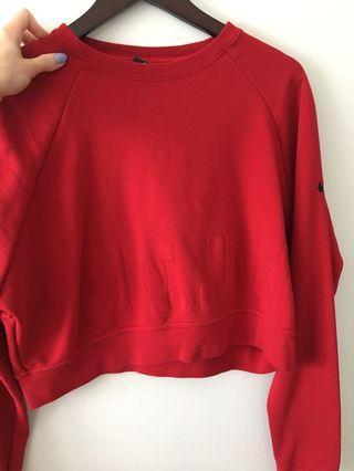 Nike Cropped Sweatshirt Size S