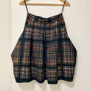 COS Skirt XS green check