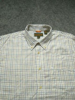 TIMBERLAND Button-down Plaid Shirt Long Sleeve Size XL