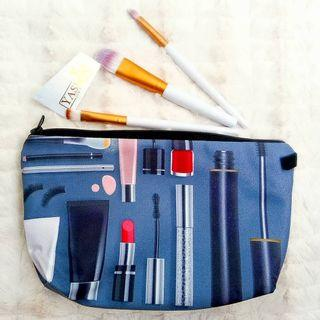 Yasmin Cute Travel Pouch Bag For Raya - Dark Space