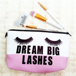 Yasmin Cute Travel Pouch Bag For Raya - Big Lashes
