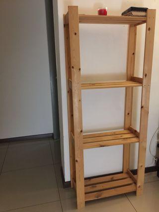 Rak Kayu IKEA ALBERT Shelving Unit Pine SoftWood