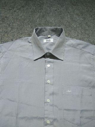 DOLCE & GABBANA Check Shirt Long Sleeve Size M