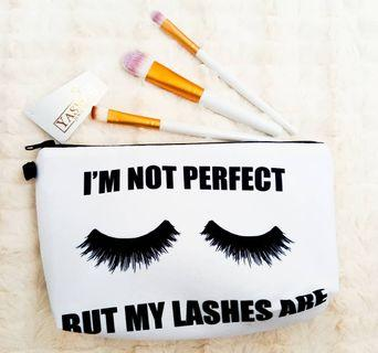 Yasmin Cute Travel Cosmetic Pouch Bag For Raya - Perfect Lashes