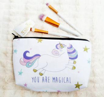 Yasmin Cute Travel Cosmetic Pouch Bag - Unicorn