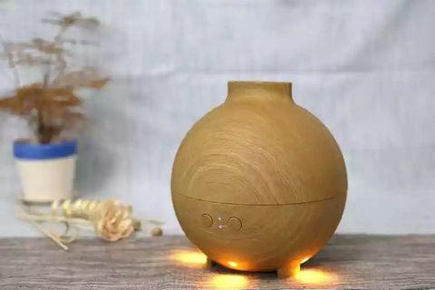 Classic Wooden Ultrasonic Diffuser Air Humidifier with Smart Function