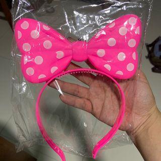 Pink Minnie Hairband Lights