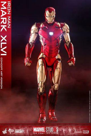 Hot Toys Iron man Mark 46 Concept Art