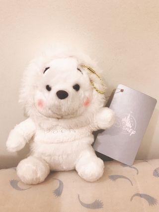 🚚 「絕版」日本東京迪士尼 冬季限定 白色 雪白 維尼 小熊維尼 吊飾