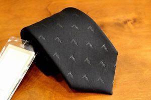 trussardi logo monogram black tie