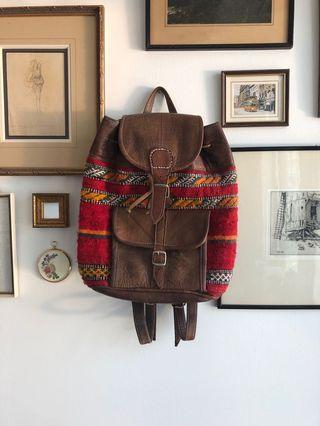 Vintage Moroccan backpack