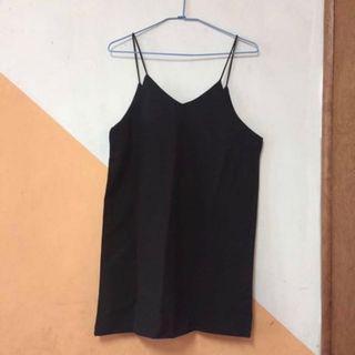 🚚 4/24旋轉免運 黑色細肩帶洋裝 #半價衣服拍賣會