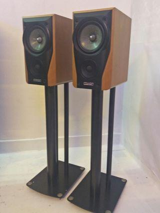 Mission 780 2 Ways Bass Reflex Loaded Bookshelf Speaker with Mission Stand
