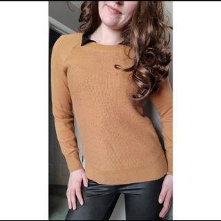 Mustard Yellow Knit Sweater Small