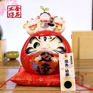 JSGF Daruma(Ceramic) coin bank 金石工坊达摩扑满