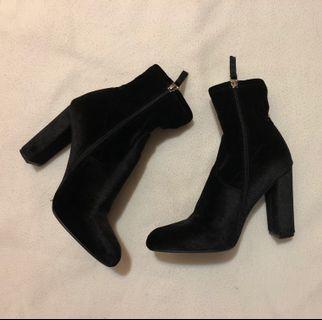 Steve Madden Velvet Sock Boots -High heel