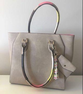 Aldo Brown Leather Handbag Purse