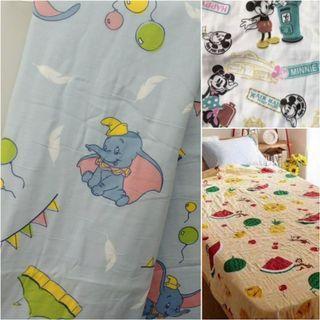 小飛象Dumbo/ Chip and Dale / Mickey Minnie mouse 特大雙層紗巾被 亦可作床單 150X200cm 出口日本 全新