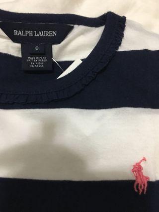 (全新)Polo Ralph Lauren sz6 女童全棉上衣